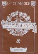Recueil de Mélodies (Edition pour Voix Elevées) épuisé