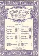 Barcarolle, Lieder et Duos n° 13