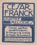 Quatre Mélodies, N°1 L'Ange Gardien, transcription pour Voix Seule
