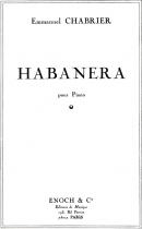 Habanera (N°1) Transcription pour Piano par l'Auteur