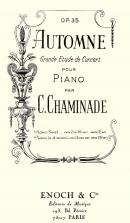 Automne Op.35 (Etude de concert N°2) in Six Etudes de Concert Op.35 Premier Recueil
