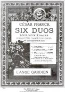L'Ange Gardien : Six Duos pour Voix Egales N°1
