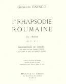 1ère Rhapsodie Roumaine Op.11 en La Majeur, trancription de concert pour piano