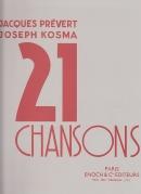 21 Chansons, volume 1, recueil piano-chant